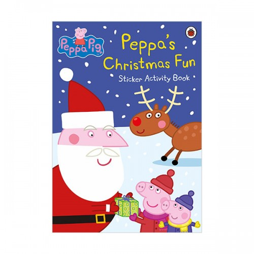 ★키즈코믹콘★Peppa Pig : Peppa's Christmas Fun Sticker Book (Paperback)