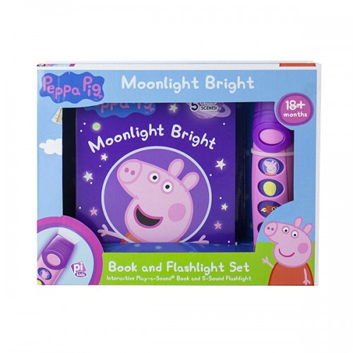 Peppa Pig : Moonlight Bright Sound Book and Flashlight Set (Board Book)