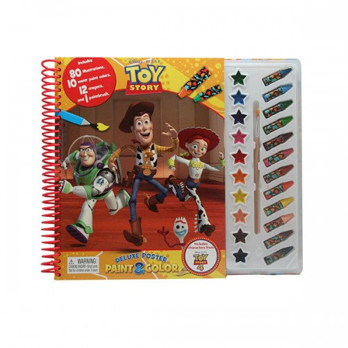 Disney Toy Story 4 Deluxe Poster Paint & Color (Paperback)