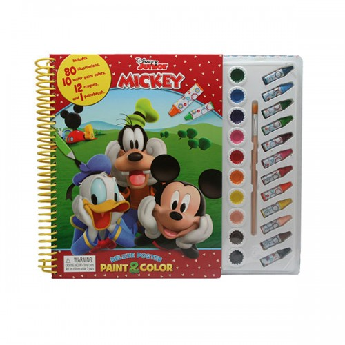 Disney Junior Mickey Deluxe Poster Paint & Color (Paperback)
