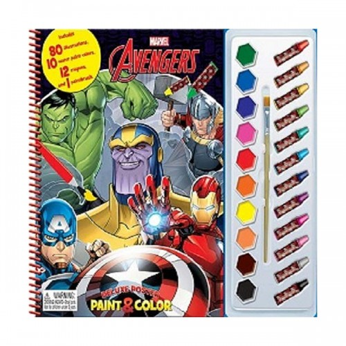 Marvel Avengers Infinity Deluxe Poster Paint & Color (Paperback)