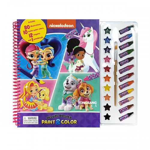 Nick Junior Girls Deluxe Poster Paint & Color (Paperback)