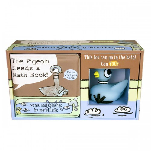 The Pigeon Needs a Bath Book with Pigeon Bath Toy! (Bath Book)