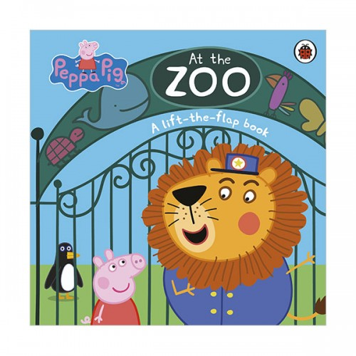 ★키즈코믹콘★Peppa Pig : At the Zoo : A Lift-the-Flap Book (Board book, 영국판)