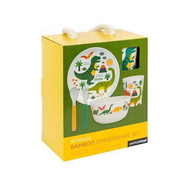 Petit Collage Dinosaur Dinnerware Set