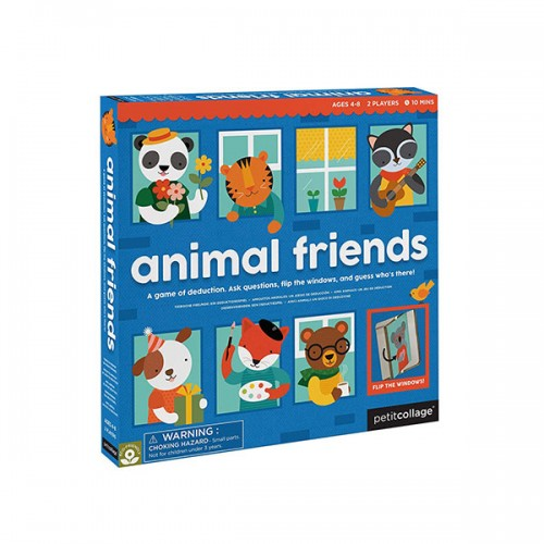 Petit Collage Knock Who's There Animal Friends Board Game