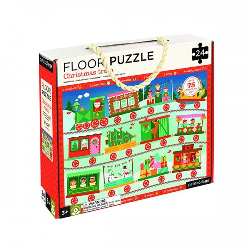 ★키즈코믹콘★Petit Collage Children's Floor Puzzle : Christmas Train