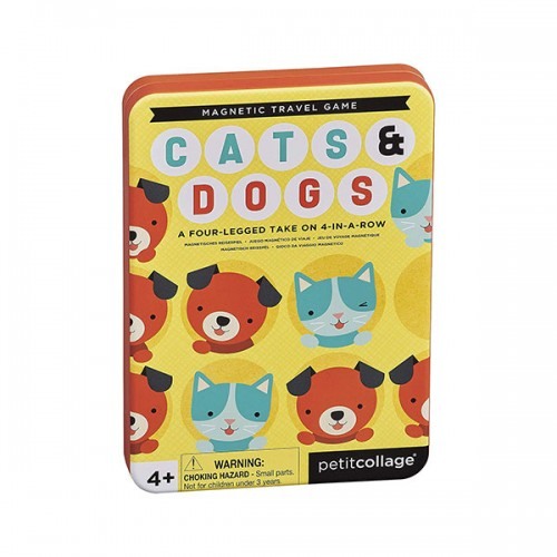 Petit Collage Magnetic Travel Game : Cats & Dogs
