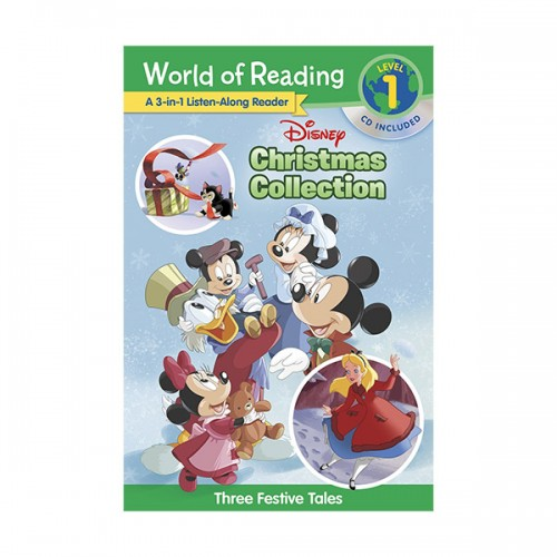 World of Reading Level 1 : 3-in-1 Listen-Along Reader : Disney Christmas Collection : 3 Festive Tales (Paperback & CD)