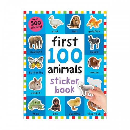 First 100 Animals Sticker Book (Paperback)