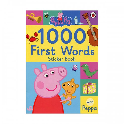 ★키즈코믹콘★Peppa Pig : 1000 First Words Sticker Book (Paperback, 영국판)