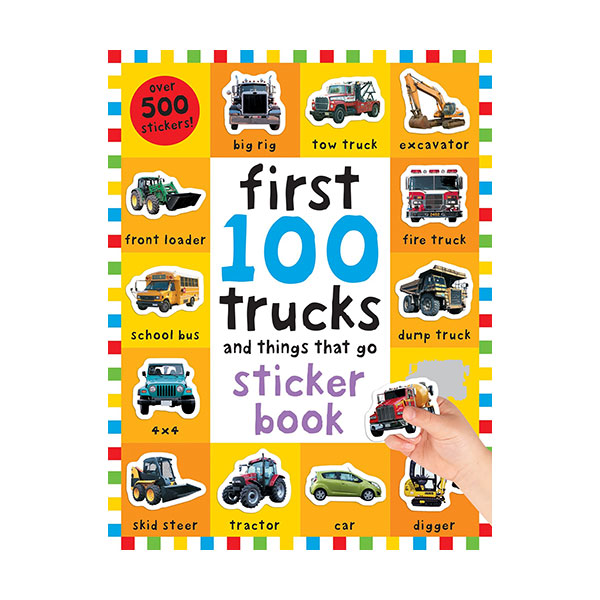 First 100 Stickers : Trucks and Things That Go : Sticker book (Paperback)