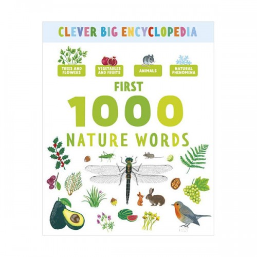 Clever Big Encyclopedia : My First 1000 Nature Words (Hardcover)