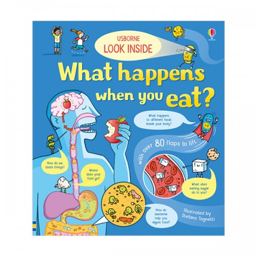 Look Inside What Happens When You Eat (Board book, 영국판)