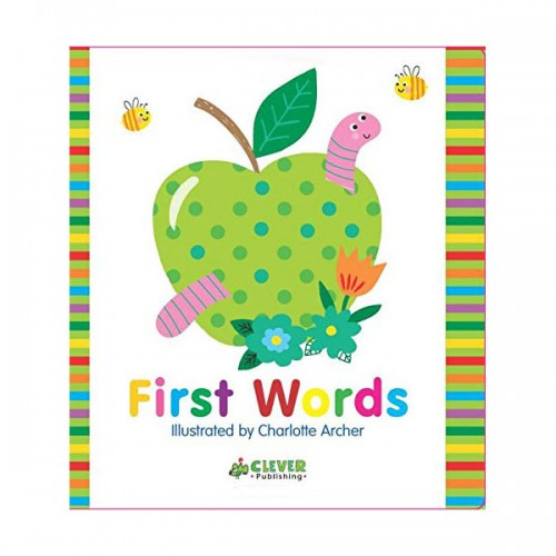Clever Colorful Concepts : First Words (Board book)