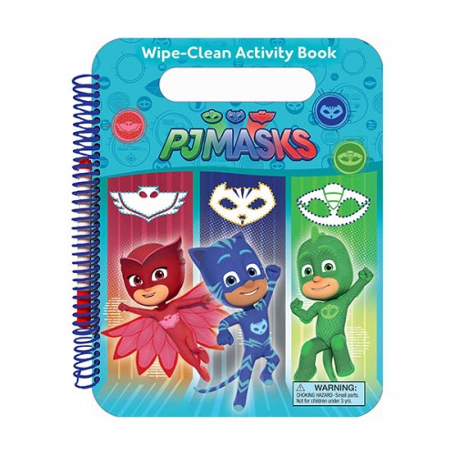 PJ Masks Wipe-Clean Activity Book (Spiral-bound)