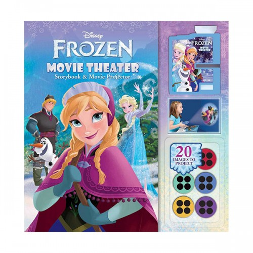 Disney Frozen : Movie Theater Storybook & Movie Projector (Hardcover)