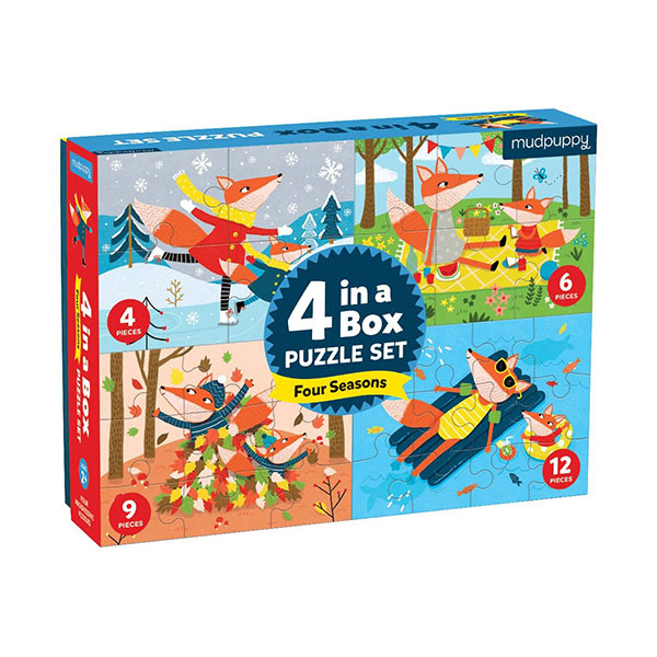 Mudpuppy : Four Seasons 4-in-A-Box Puzzles (Puzzle)