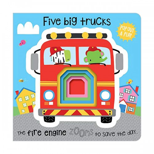 Pop-Out and Play Five Little Trucks (Board book, 영국판)