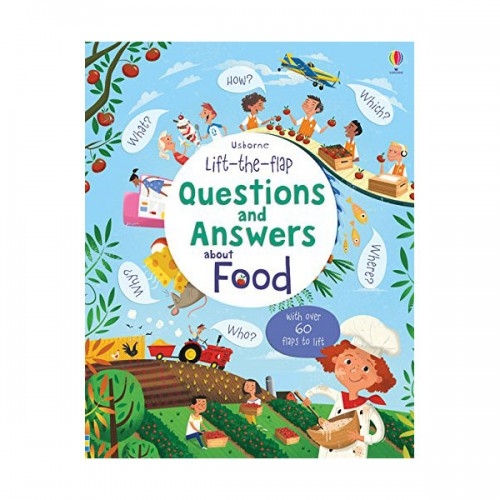 Lift-the-flap Questions and Answers : About Food (Board book, 영국판)