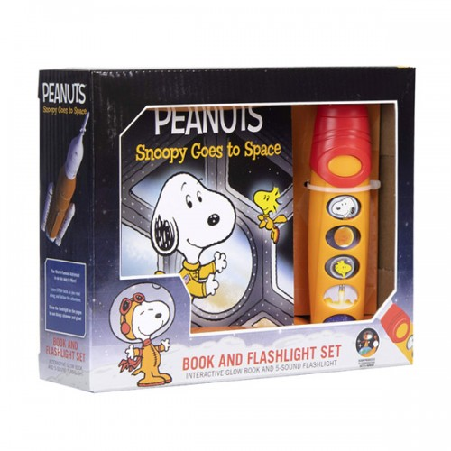Peanuts - Snoopy Goes to Space Sound Book and Flashlight Set (Sound Board book)