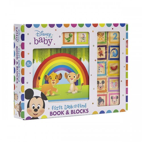 Disney Baby : First Look & Find : Book & Blocks (Board book)