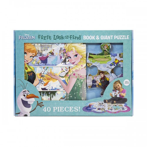 Disney Frozen First Look and FInd Board Book & Giant 40 Piece Puzzle (Book & Puzzle)
