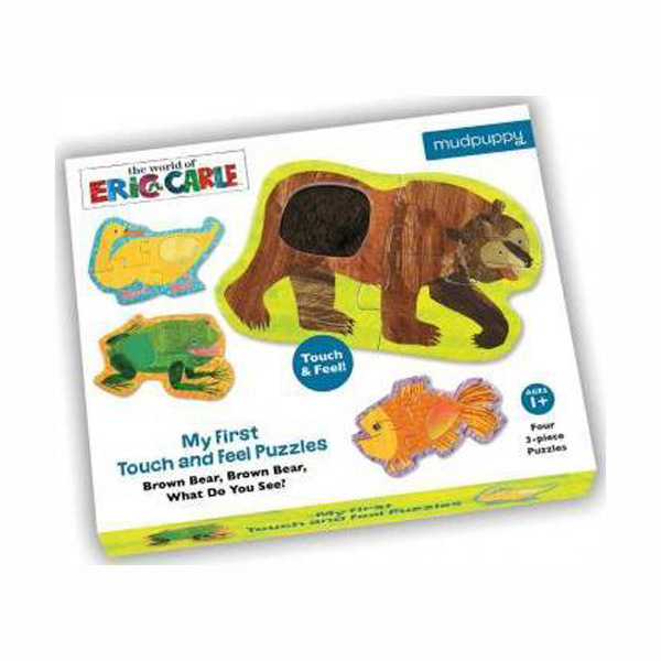 ★키즈코믹콘★The World of Eric Carle : My First Touch & Feel Puzzle - Brown Bear, Brown Bear What Do You See? (Puzzle)
