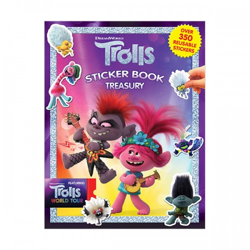 Sticker Book Treasury : DreamWorks Trolls (Paperback)