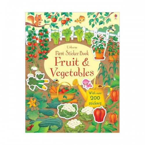 First Sticker Book Fruit and Vegetables (Paperback, 영국판)