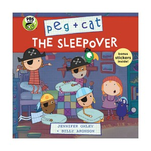 Peg + Cat : The Sleepover (Paperback)