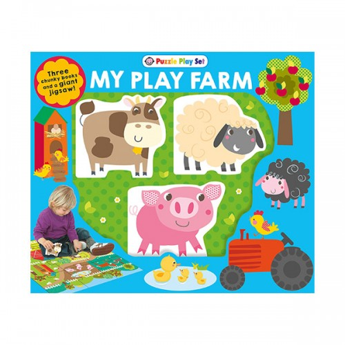 Puzzle Play Set: My Play Farm (Mini Board Book+Puzzle)