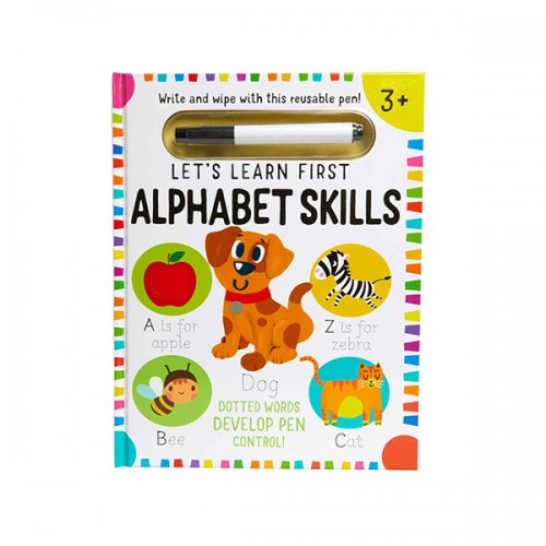 Write and Wipe : Let's Learn : First Alphabet Skills (Hardcover)