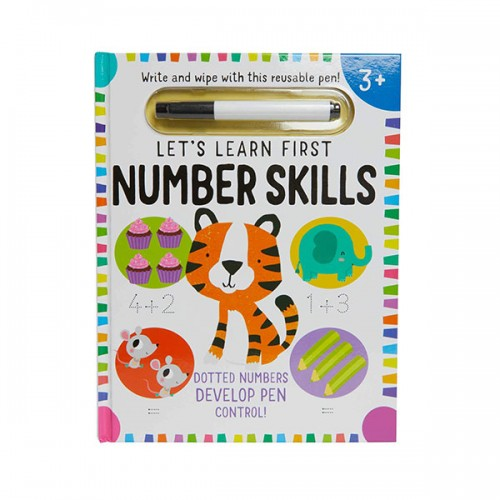 Write and Wipe : Let's Learn : First Number Skills (Hardcover)