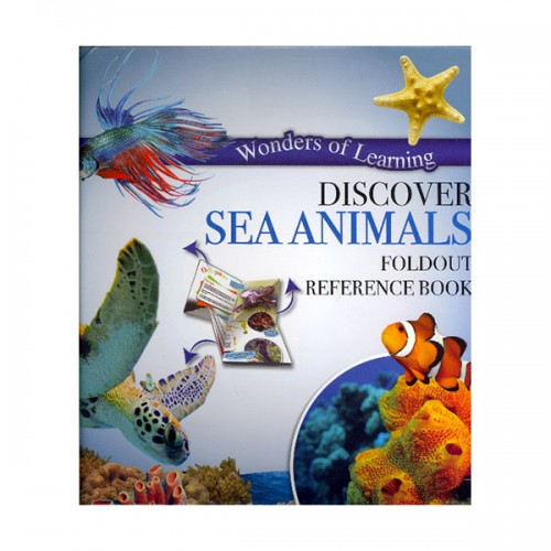Discover Sea Animals Foldout Reference Book (Hardcover)