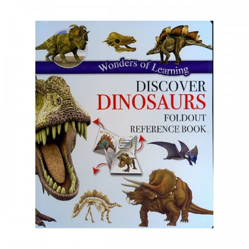 Discover Dinosaurs Foldout Reference Book (Hardcover)