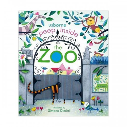 Usborne Peep Inside : The Zoo (Board book, 영국판)