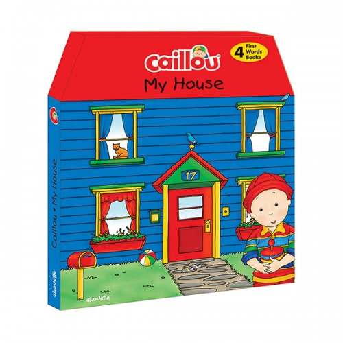 Caillou, My House : 4 chunky board books to learn new words (Board book)