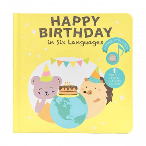 Happy Birthday in six Languages (Board book, Sound book)