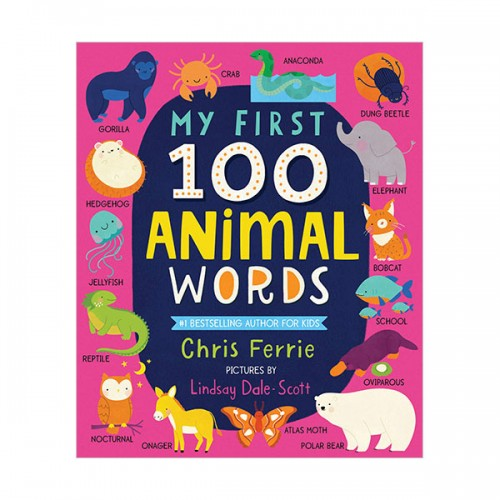 My First 100 Animal Words (Board book)