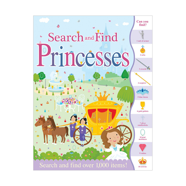 Search and Find Princesses (Paperback, 영국판)