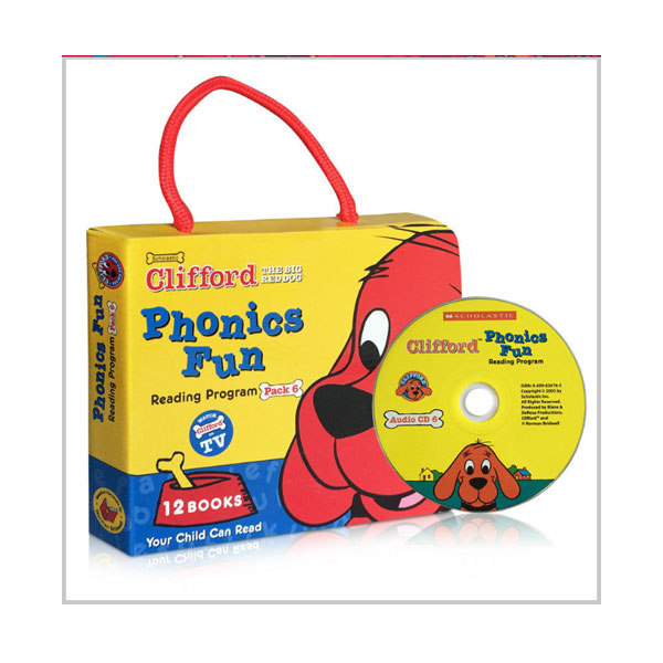 Clifford Phonics Box Set 6 (12 Books with CD)