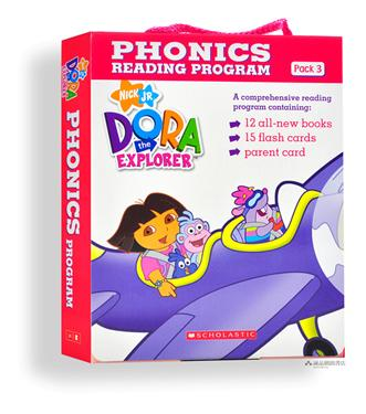 Dora the Explorer : Phonics Reading Program Pack 3 (12 Paperbacks + 1 CD)