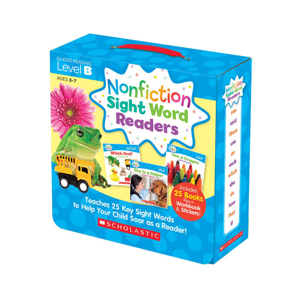 Nonfiction Sight Word Readers Level B Box Set (25 Books + Workbook + Stickers) (CD미포함)