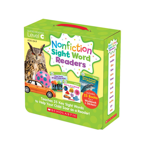 Nonfiction Sight Word Readers Level C Box Set (25 Books + Workbook + Stickers)(CD미포함)