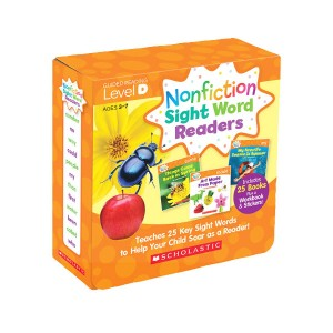 Nonfiction Sight Word Readers Level D Box Set (25 Books + Workbook + Stickers)
