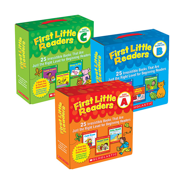 First Little Readers Box 3종 Set (Level A,B,C)