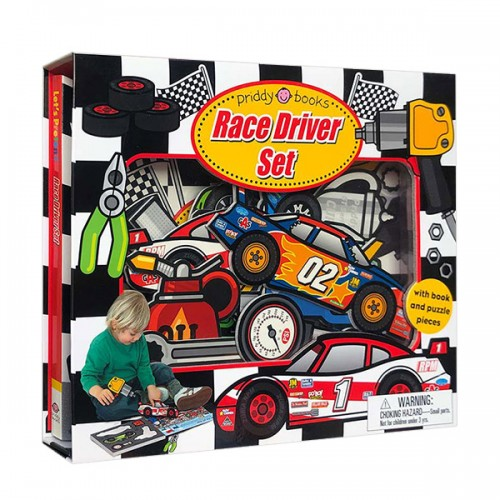 Let's Pretend : Race Driver Set (Board book)