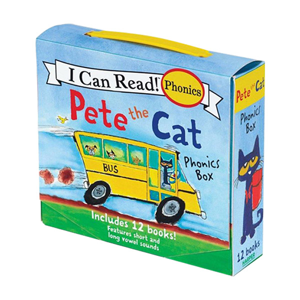 I Can Read My First : Pete The Cat Phonics Box : 12 Mini-Books Boxed Set (Paperback) (CD없음)