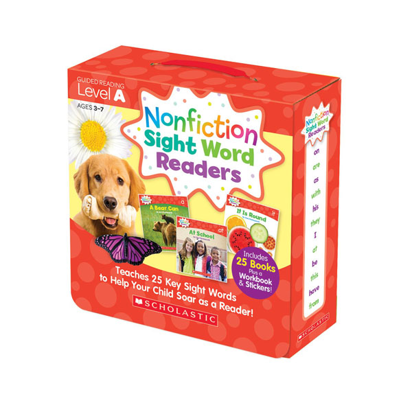 Nonfiction Sight Word Readers Level A Box Set (25 Books + Workbook + Stickers) (CD미포함)